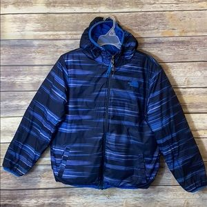 Boy's The North Face Winter Coat Reversible L Blue